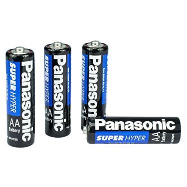 Pilha Panasonic Comum Pequena AA Com 4 Unidades