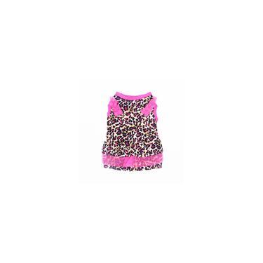 Dog Cat Moda Pet Vestido pontos impressos Patchwork Gauze vestido sem mangas elásticas confortáveis roupas de verão bonito do animal de estimação