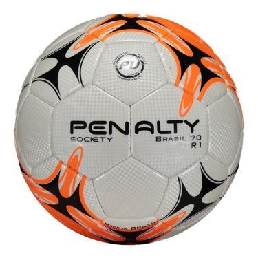 Bola Penalty Brasil 70 R1 VII Society - Branco e Laranja 369ca358e2c3a