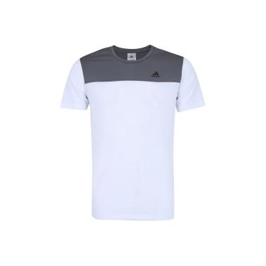 ee595233ef Camiseta adidas Train Breath - Masculina - BRANCO CINZA ESC adidas