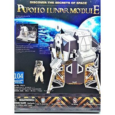 Imagem de Quebra-cabeça 3d Módulo Lunar Apollo - Brinquedos Chocolate