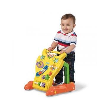 Andador Feliz Brinquedo Educativo Bebê Infantil Calesita Amarelo