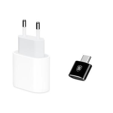 Carregador 18W Iphone X Xs 11 Adaptador Usb-C Apple