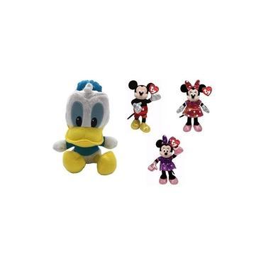 Imagem de Turma Mickey 4 Pelúcias Donald Minie Rosa Roxa Originais