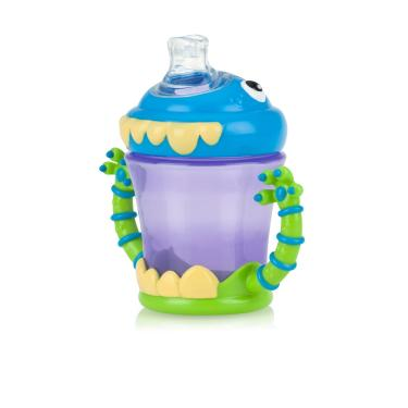 Copo Monstro Para Bebê Com Bico E Alça No Spill Grip N Sip (4m+) - 210ml - Nûby