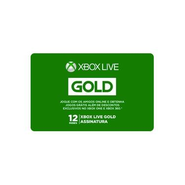 Gift Card Digital Xbox Live 12 Meses
