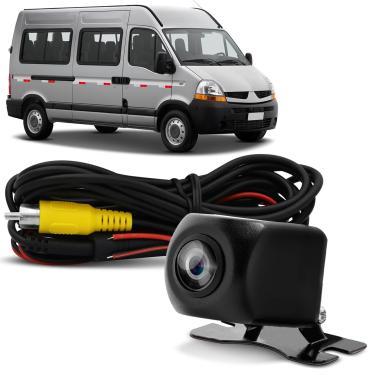 Câmera Frontal Automotiva Dianteira Parachoque Colorida Placa Ré Carro Van Prova D'Água Kx3