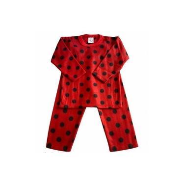 Pijama Infantil Soft Estampado Menina Joaninha Vermelho