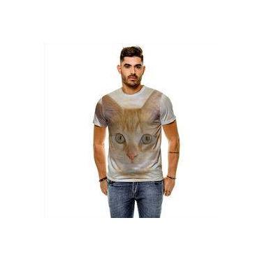 Camiseta Gato American Shorthair Amarelo Masculina Slim 7740c7886c4