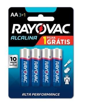 Pilha Alcalina AA 4und Rayovac