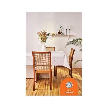 Imagem de Toalha para Mesa Retangular 8 Lugares Lepper Super Prática Gabi em Algodão e Poliéster 155 x 250 cm – Cinza
