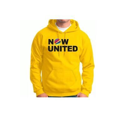Moletom Feminino e masculino Blusão Canguru Now United Music Amarelo