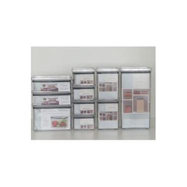 Imagem de Kit 10 Potes para Alimentos / Mantimentos e Porta Frios - Herméticos Empilháveis Acrílico