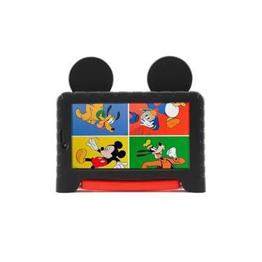 Imagem de Tablet Infantil Multilaser Azul Disney Mickey Vingadores Princesas Quad Core Dual Câmera