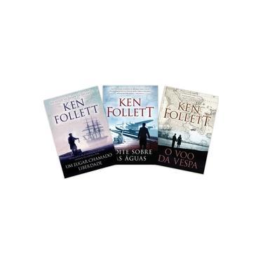 Coleção Ken Follett - Um Lugar Chamado Liberdade + Noite Sobre Águas + O Vôo Da Vespa  1ª Edição - Exclusivo