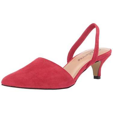 Bella Vita Sapatilha feminina Sarah Slingback, Red Kidsuede Leather, 6 X-Wide