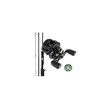 Carretilha Abu Garcia Pro Max3 8 Rolamentos Com Vara de Carbono 20lbs e Linha Multifilamento 0,23mm