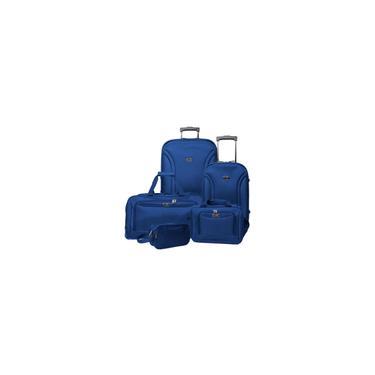 Imagem de Conjunto Malas De Viagem Friburgo 5 Peças Azul