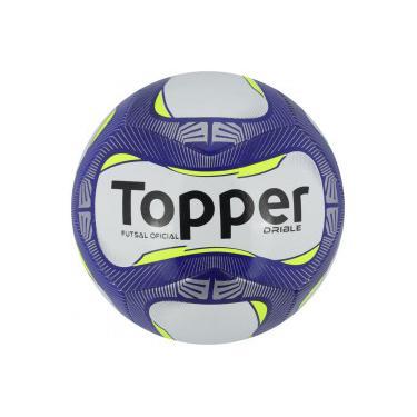 Bola de Futsal Topper Drible - BRANCO AZUL Topper e45e78cf786f0