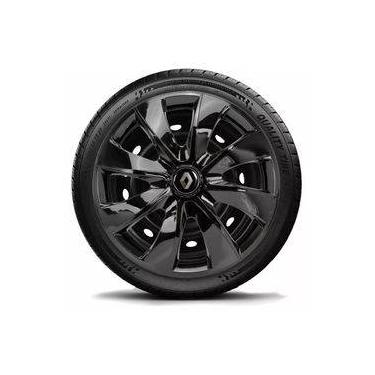 Calota Aro 14 Black Renault Logan Clio Sandero Symbol