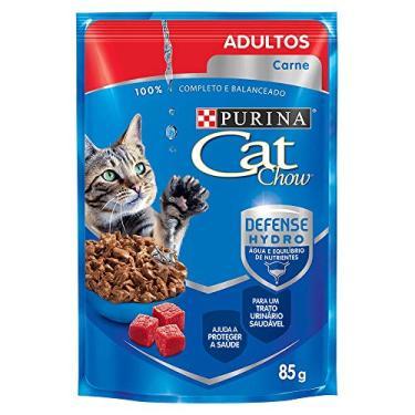 Ração Nestlé Cat Chow Adultos Sachê Carne ao Molho, Purina, 85g