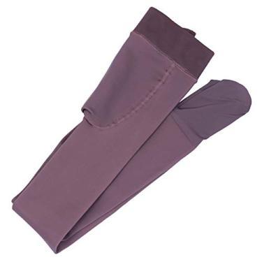 Valicclud calça legging feminina opaca com forro de meia-calça e calça térmica grossa, Preto, 94.5×24.5cm