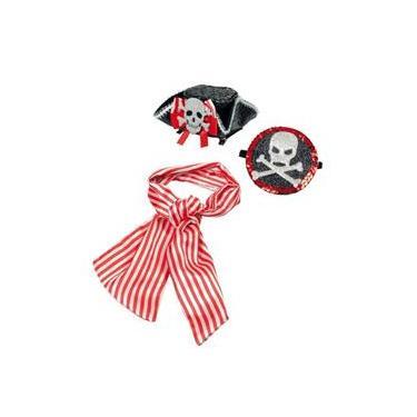 Imagem de Conjunto De Acessórios Carnaval Festas Pirata Menina