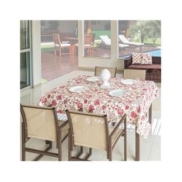 Imagem de Toalha de Mesa 8 Cadeiras Retangular com Sousplat - Vinho