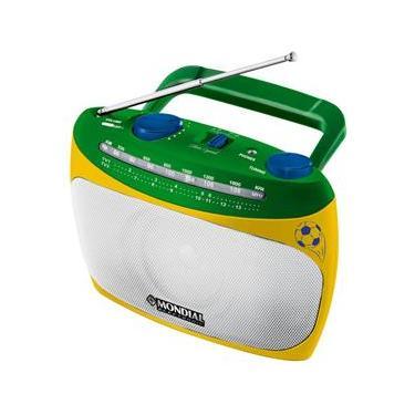 Rádio Portátil Mondial RP-02 com Sintonizador de TV – Verde/Amarelo