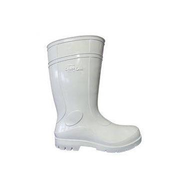 Bota de Segurança PVC Cartom Branco Cano Médio 40
