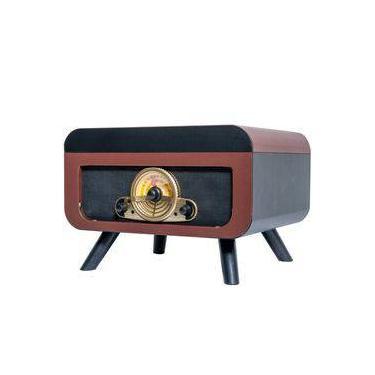 Toca Discos Ribeiro e Pavani Dakota Marrom Bivolt Bluetooth CD Rádio AM/FM Gravação Vinil para USB