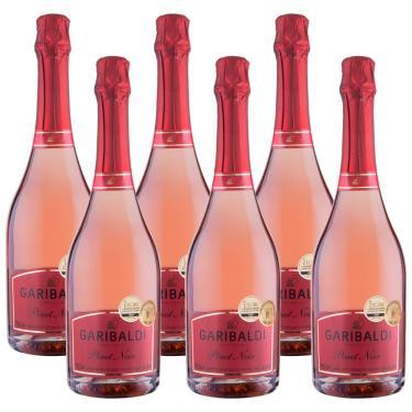 Espumante Brut Rosé Pinot Noir 750ml Garibaldi Kit 6