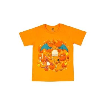 Camiseta Juvenil Pokémon Evoluções Charmander
