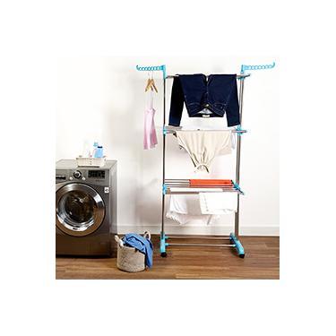 Imagem de Varal de Chão Vertical Inox com 3 Andares - Fun Clean