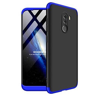 Capa 360 para Xiaomi Pocophone F1 TPU Emborrachada (Azul)