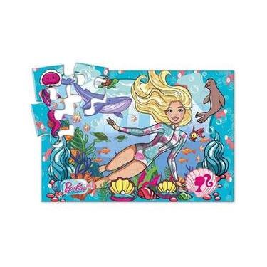 Imagem de Quebra Cabeça Cartonado - Barbie no Mar - 24 Peças - Fun
