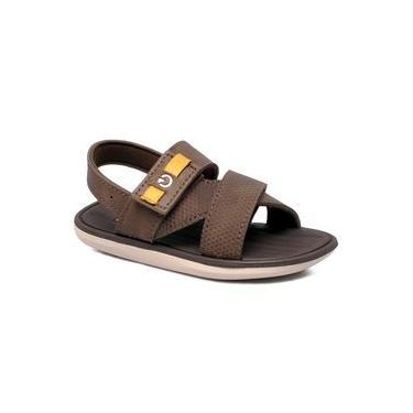 Sandália Infantil Grendene Cartago Mali Xi 11531 Bege/marrom/amarelo