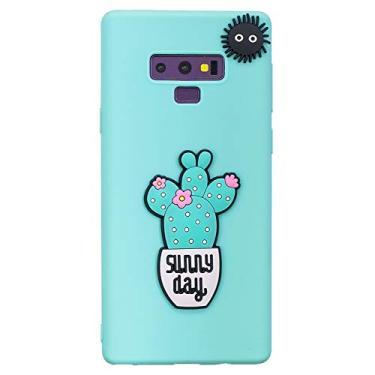 """Capa para Galaxy Note 9, SHUNDA 3D desenho fofo fosco capa fina de silicone TPU macio com absorção de choque para Samsung Galaxy Note 9 6,5"""" - Azul"""