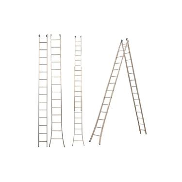 Escada Alumínio 3 Em 1 Extensiva 2 X 14 - 28 Degraus Alumasa