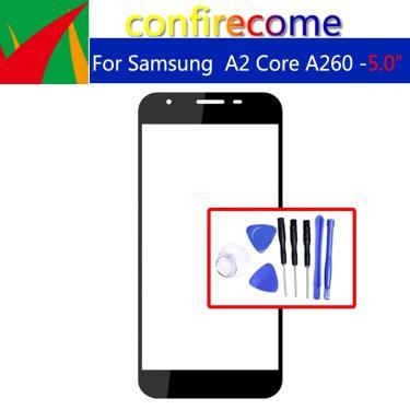 Substituição para samsung galaxy a2 core a260 tela de toque painel vidro frontal lcd lente exterior
