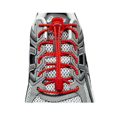 Cadarço Elastico Lock Laces Vermelho
