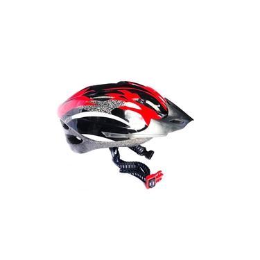 Capacete Ciclista Adulto Regulagem Tamanho Bike Ciclismo Skate Patins - Vermelho