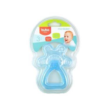 Imagem de Mordedor para Bebê Buba Gelado com Água Chocalho Azul