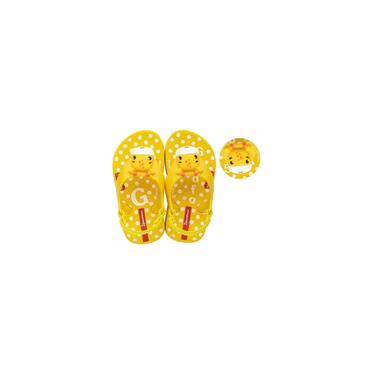 Imagem de Sandalia infantil fisher-price baby N.19 amarelo grendene unidade