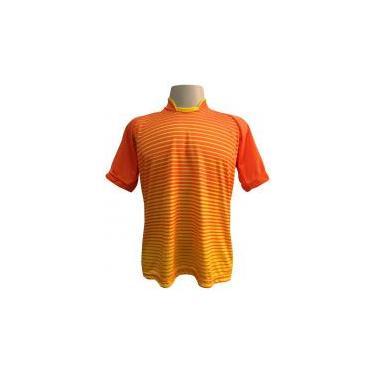 539d235436 Jogo de Camisa com 12 unidades modelo City Laranja Amarelo + 1 Goleiro +  Brindes - Play fair