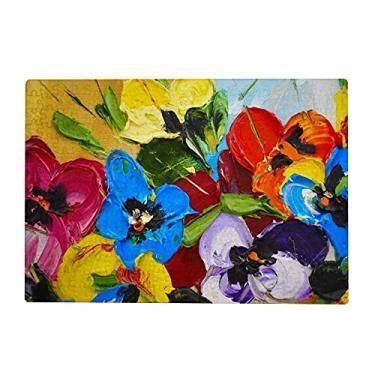 Imagem de ColourLife Quebra-cabeças quebra-cabeça presente de arte para adultos, adolescentes, flores coloridas brilhantes, jogos de quebra-cabeça de madeira, 300/500/1000 peças, multicolorido
