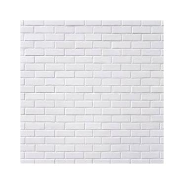 Papel De Parede 3d Sala Adesivo Tijolos Tijolinho Branco 3m