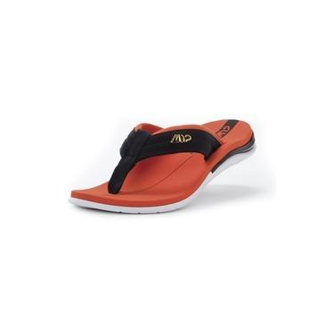 Sandália kenner action gel m12 masculina - laranja e preto