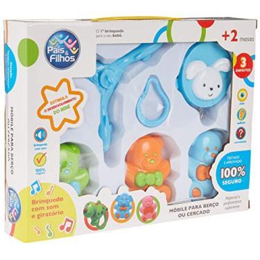 Brinquedo para Bebe Mobile para Berço Urso Musical Pais e Filhos