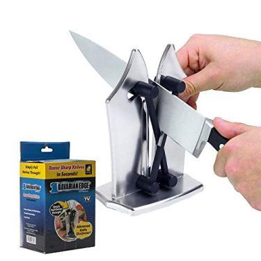 Imagem de Amolador Afiador Manual Cozinha Faca Tesoura Laminas Afiadas